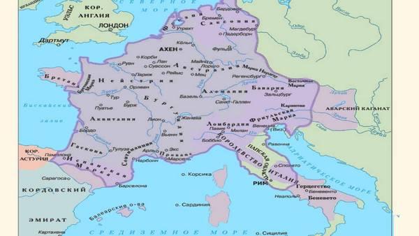 Карта імперії Карла Великого